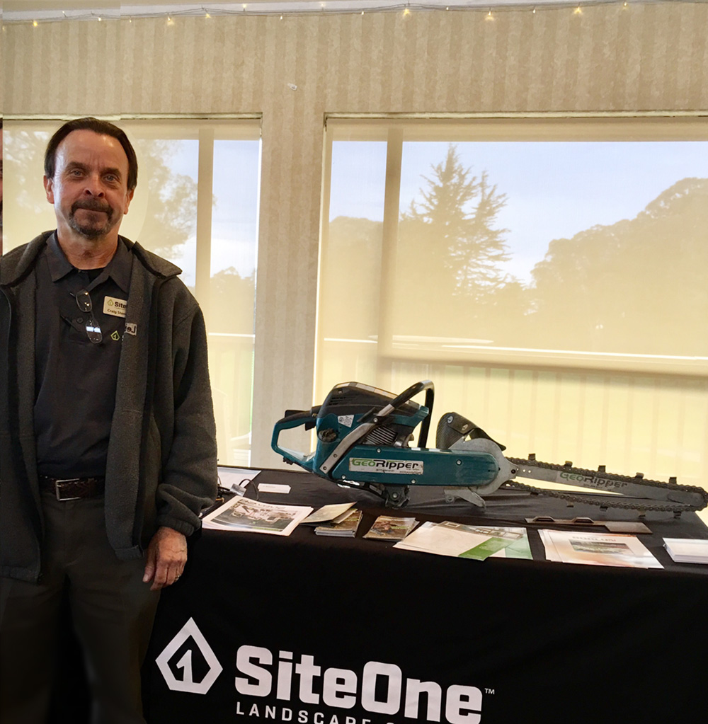 Craig Stenehjem of SiteOne Landscape Supply with his awesome GeoRipper