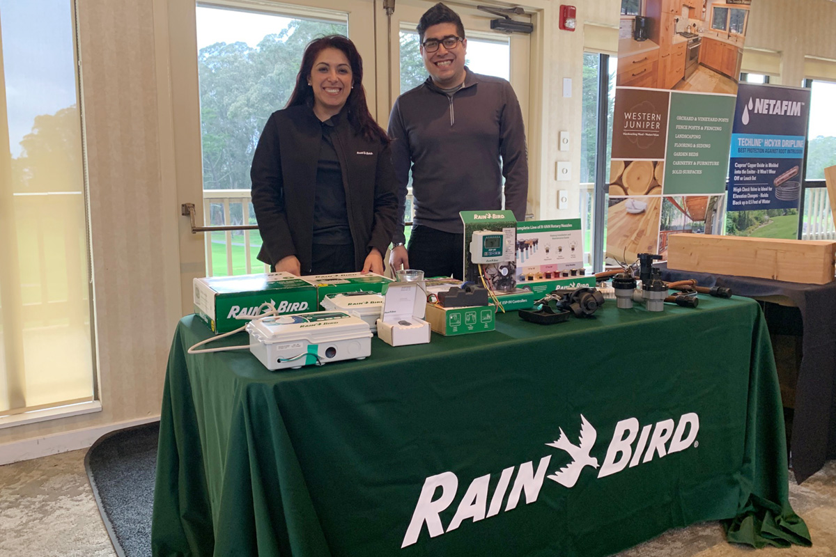 Rainbird's Fernando Terrazas and Silvia Gourian await your order.