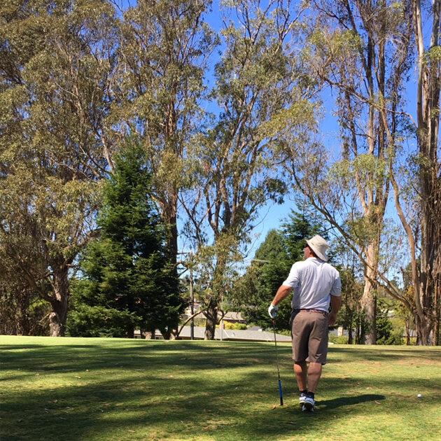 The Landscape Company's Phil Dundas, board secretary and his golf team