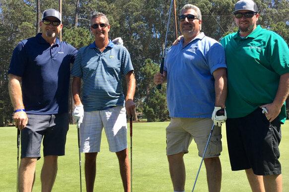 Team Belgard: Chris Smuda, Paul Borelli, Bob Traina, and Warren Flick