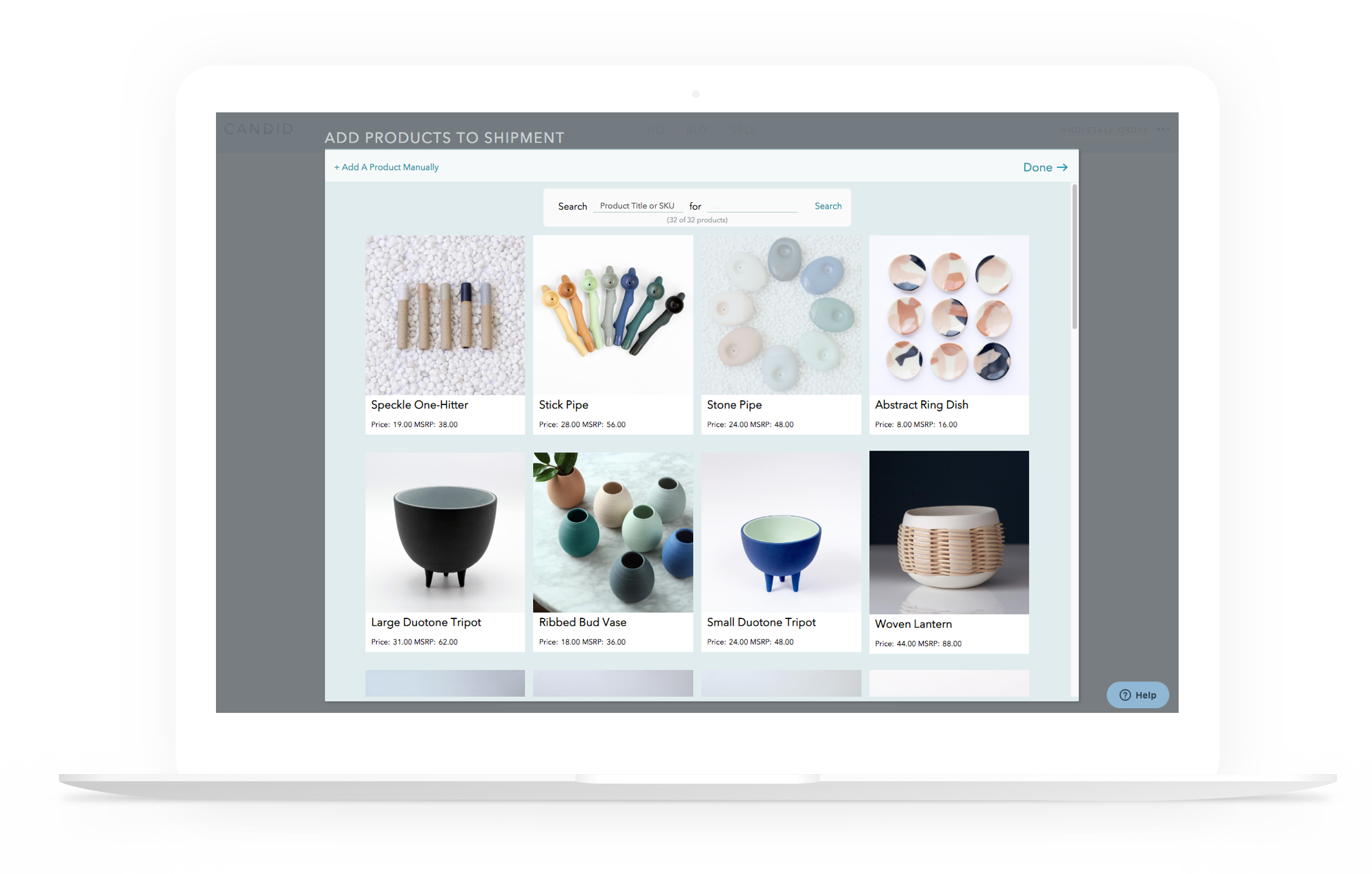 For Buyers - All your purchasing in one place. Products added directly to your store. Collaborate with brands in real time. (Or don't.)