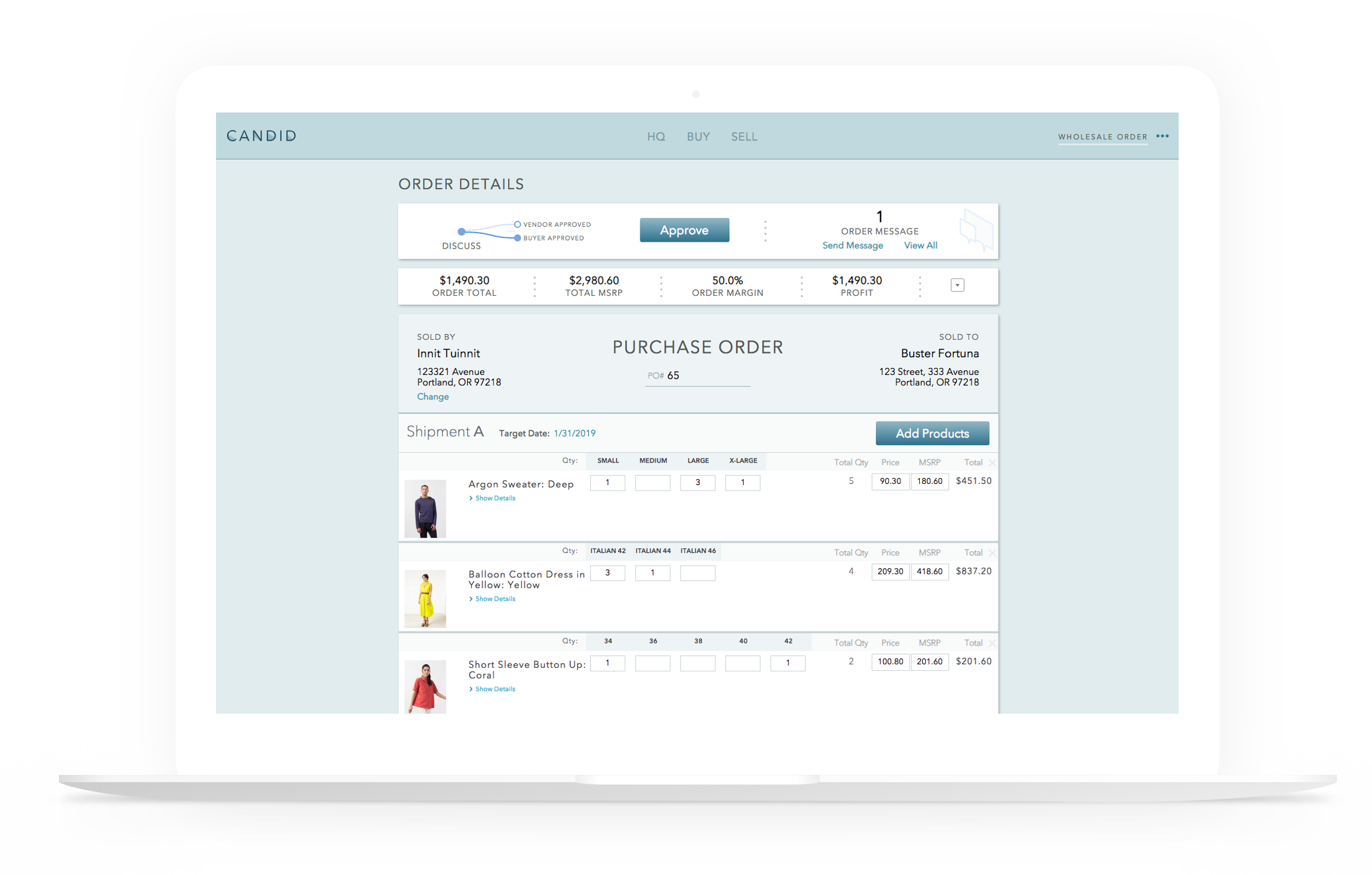 For Sellers - An order form with super powers. Controlled access to your wholesale collections. Get paid on time with integrated payments and 1-click invoicing.