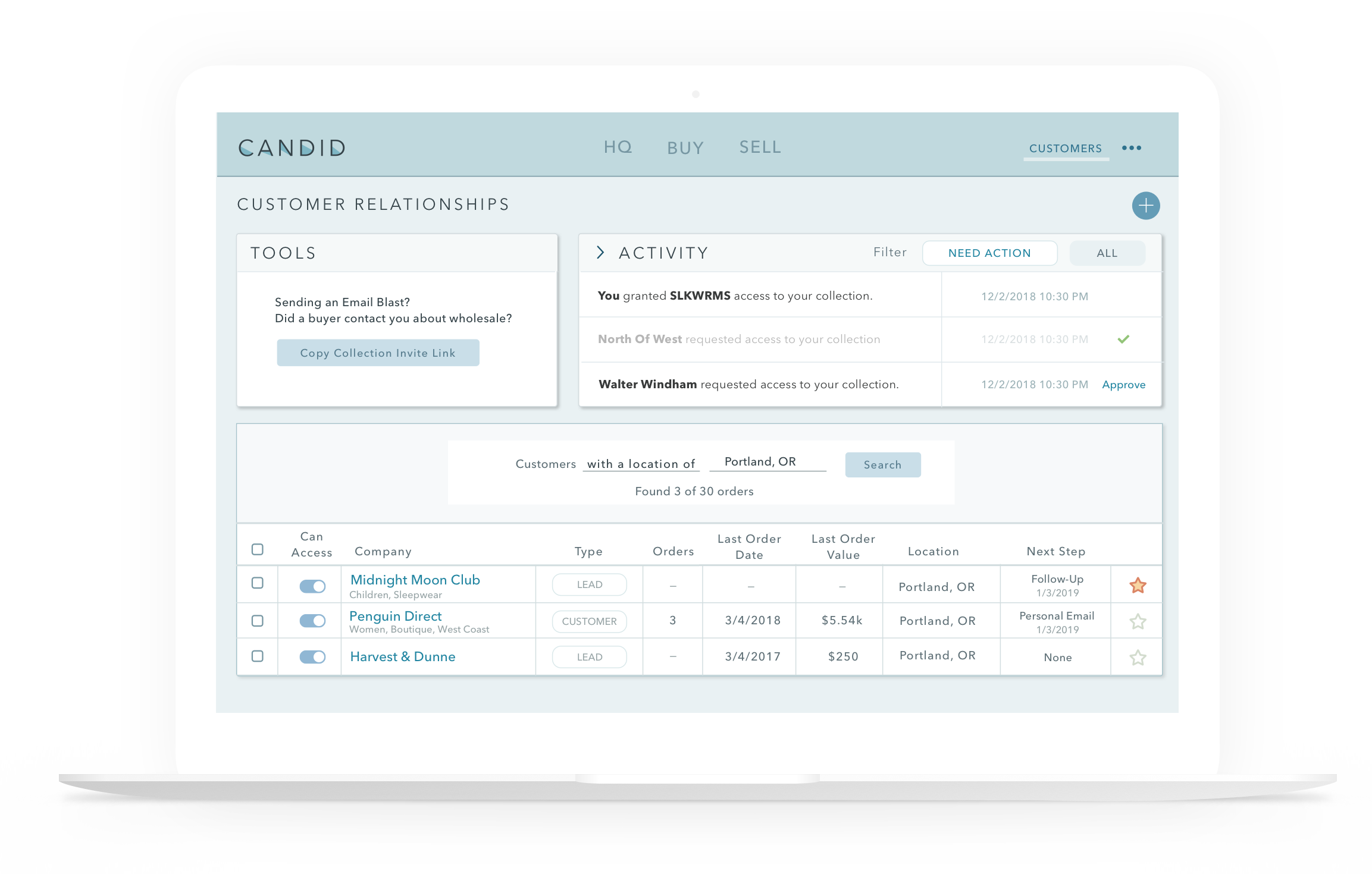 For Reps - Unlimited brands. Unlimited stores. Stay on top of all your relationships with Candid's best in class data-driven CRM.