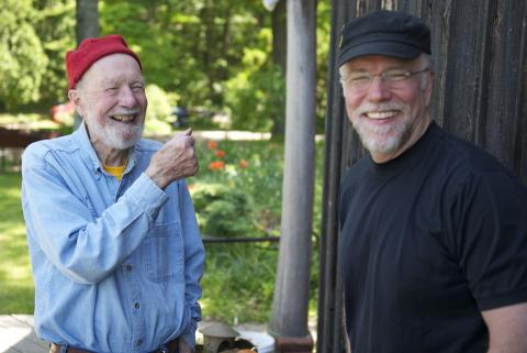 Pete Seeger and John, May 2010