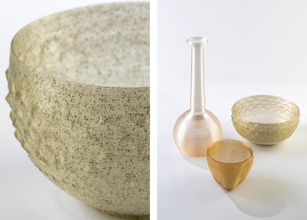 Algae Lab, 3D-printed biopolymer plastic by Erik Klarenbeek and Maartje Dros
