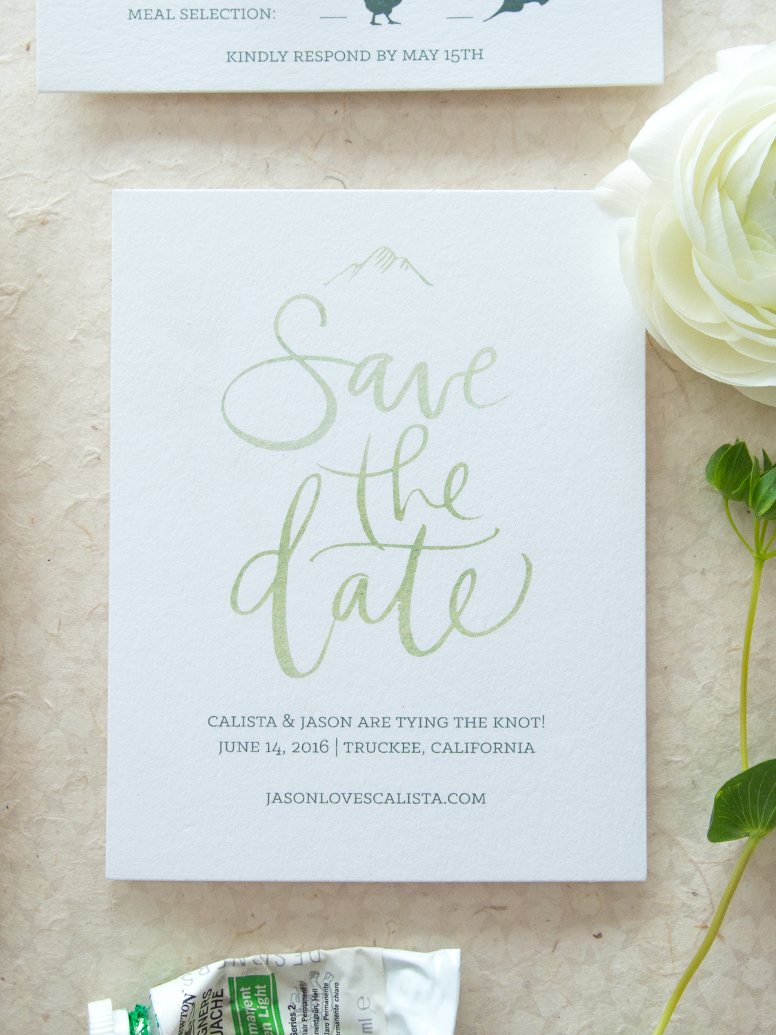 Unique Watercolor Save the Date from Bright Room Studio