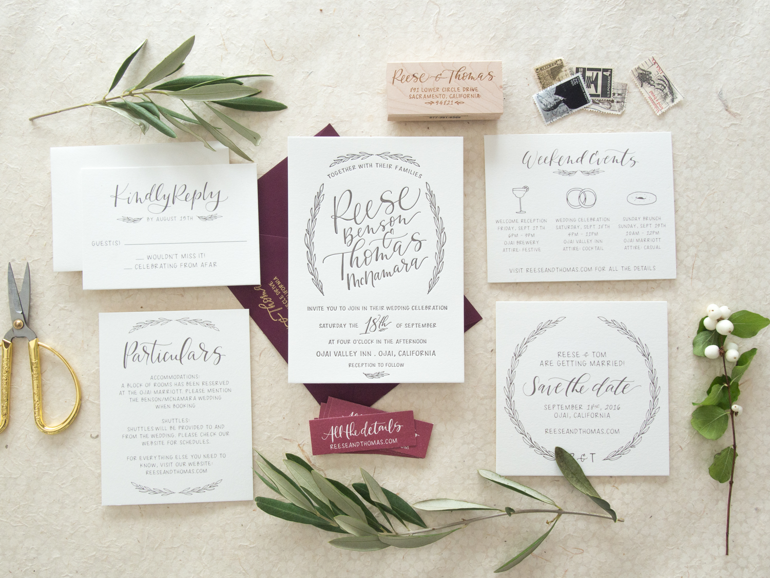 Rustic Invitation Suite from Bright Room Studio