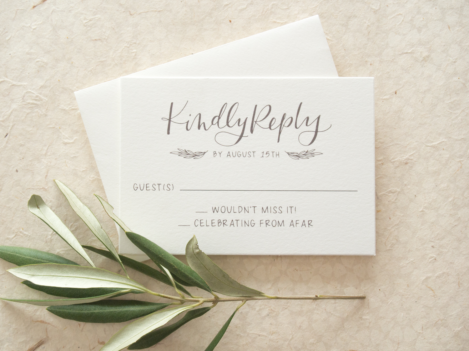 Rustic Wedding Invitation RSVP Reply Card from Bright Room Studio