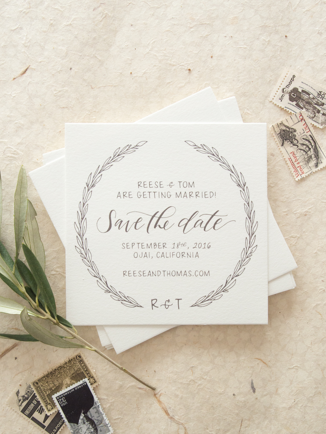 Rustic Save the Date from Bright Room Studio