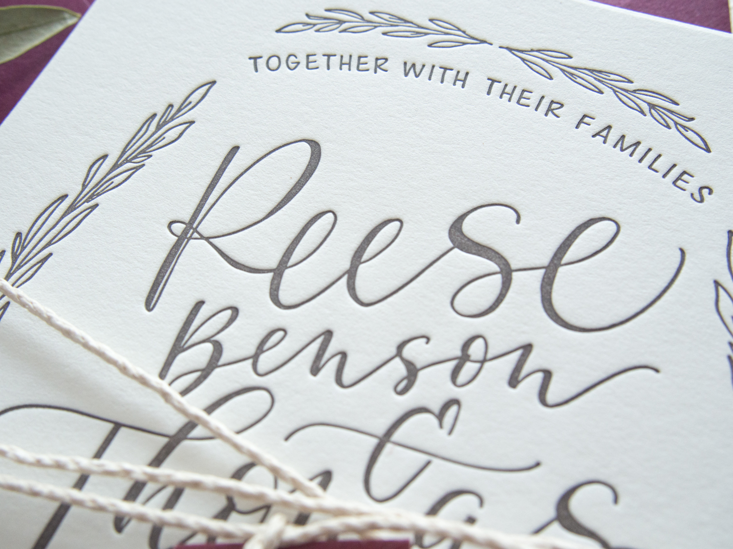 Rustic Wedding Invitations from Bright Room Studio