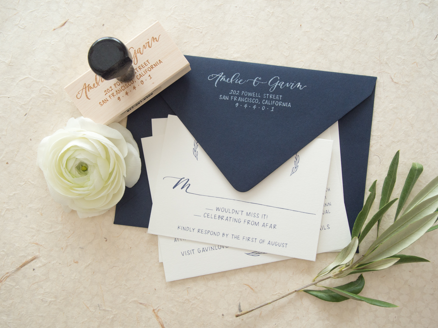 Classic Return Address Stamp from Bright Room Studio