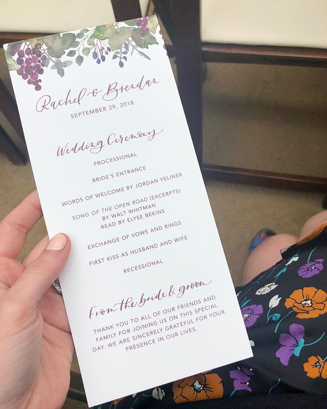 Benefit number 237 of designing invitations for your friends: you can coordinate your outfit with the paper goods. Congrats Rachel and Brendan! It was such a spectacular wedding!