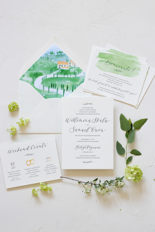 Italy Destination Wedding Invitation Suite