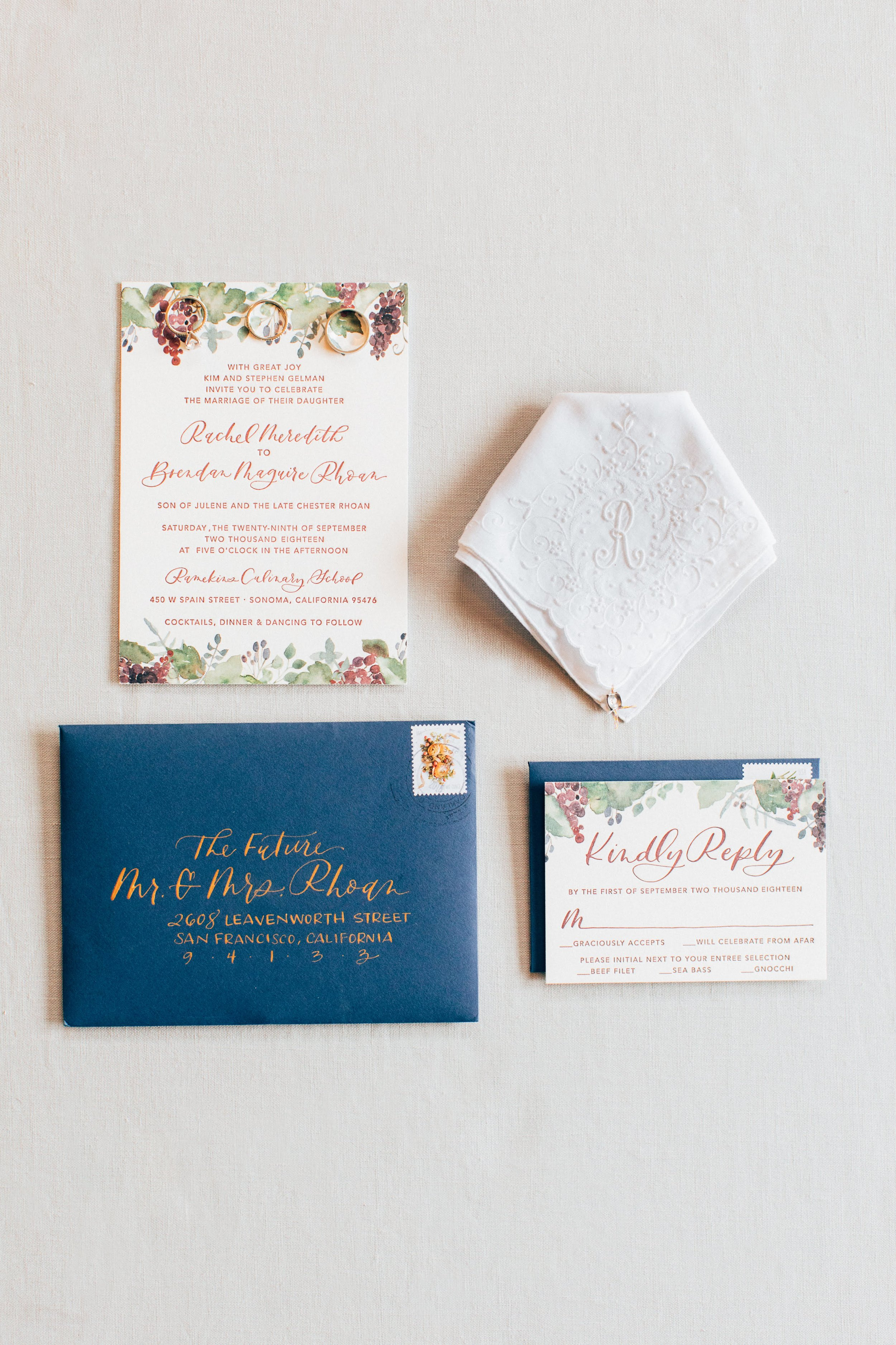 Elegant Wine Country Wedding Invitation