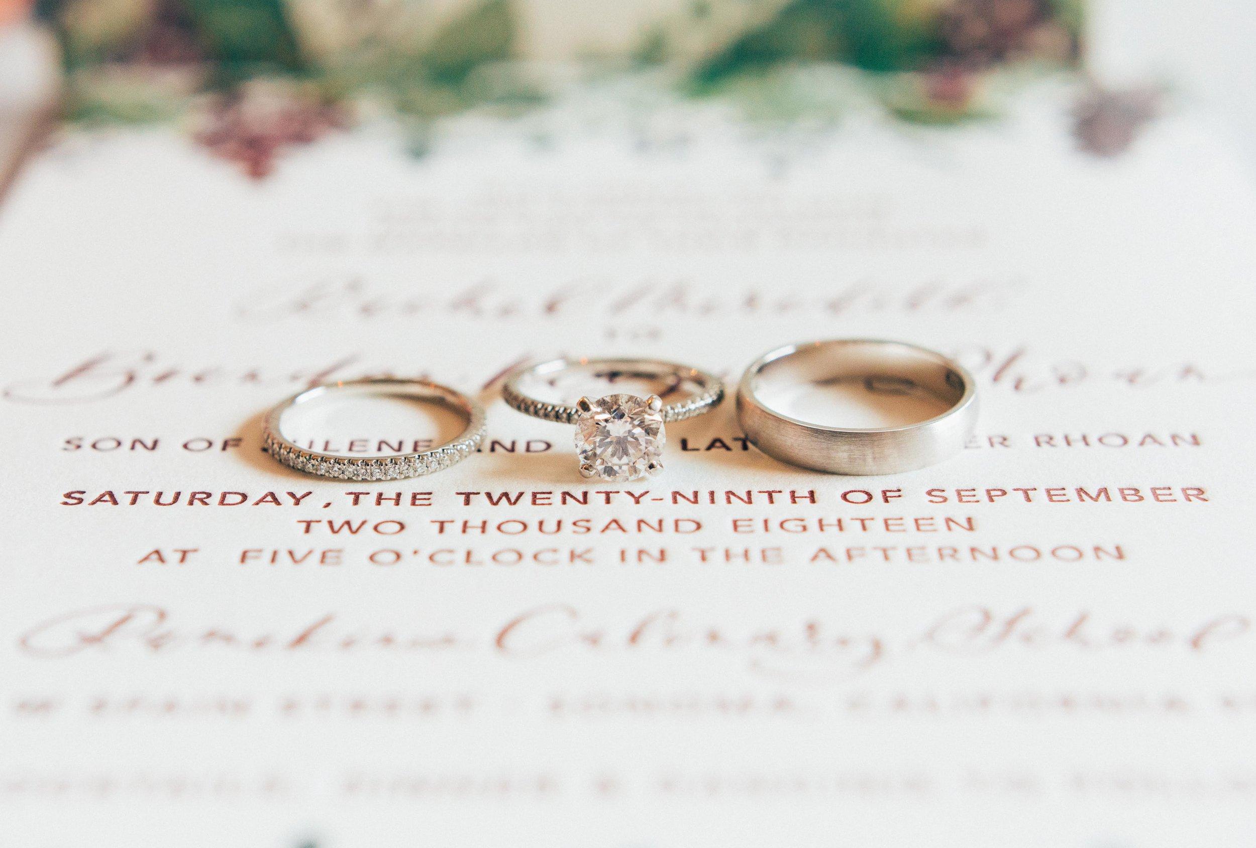 Letterpress Wine Country Wedding Invitation