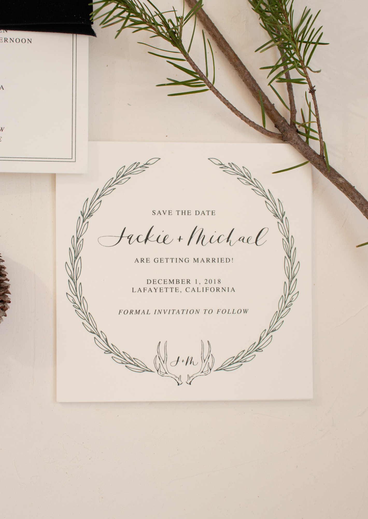 Winter Wreath Save the Date