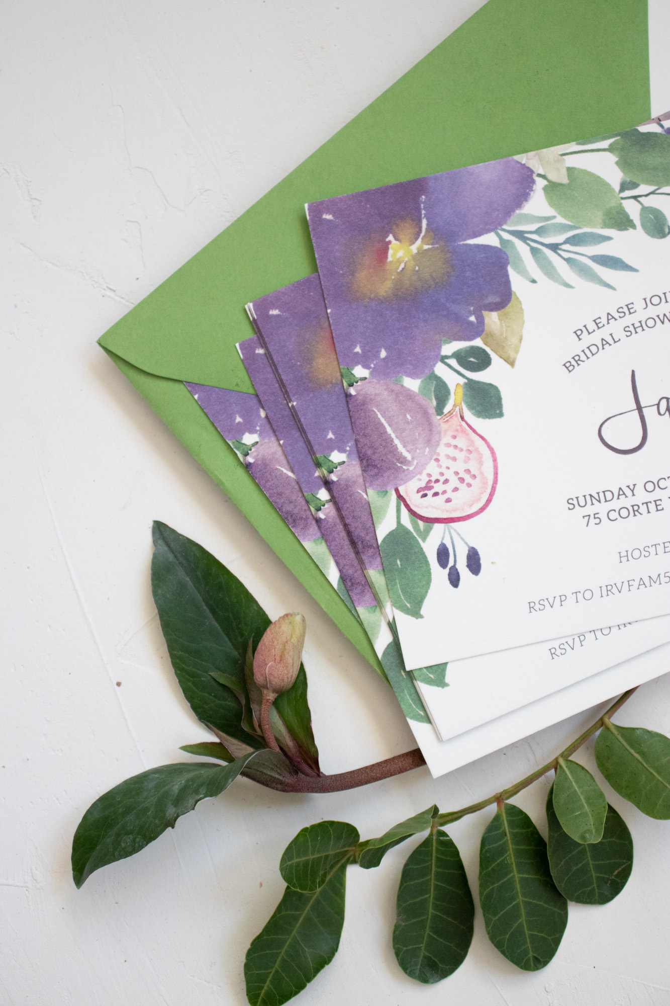 Fall Watercolor Bridal Shower Invitation