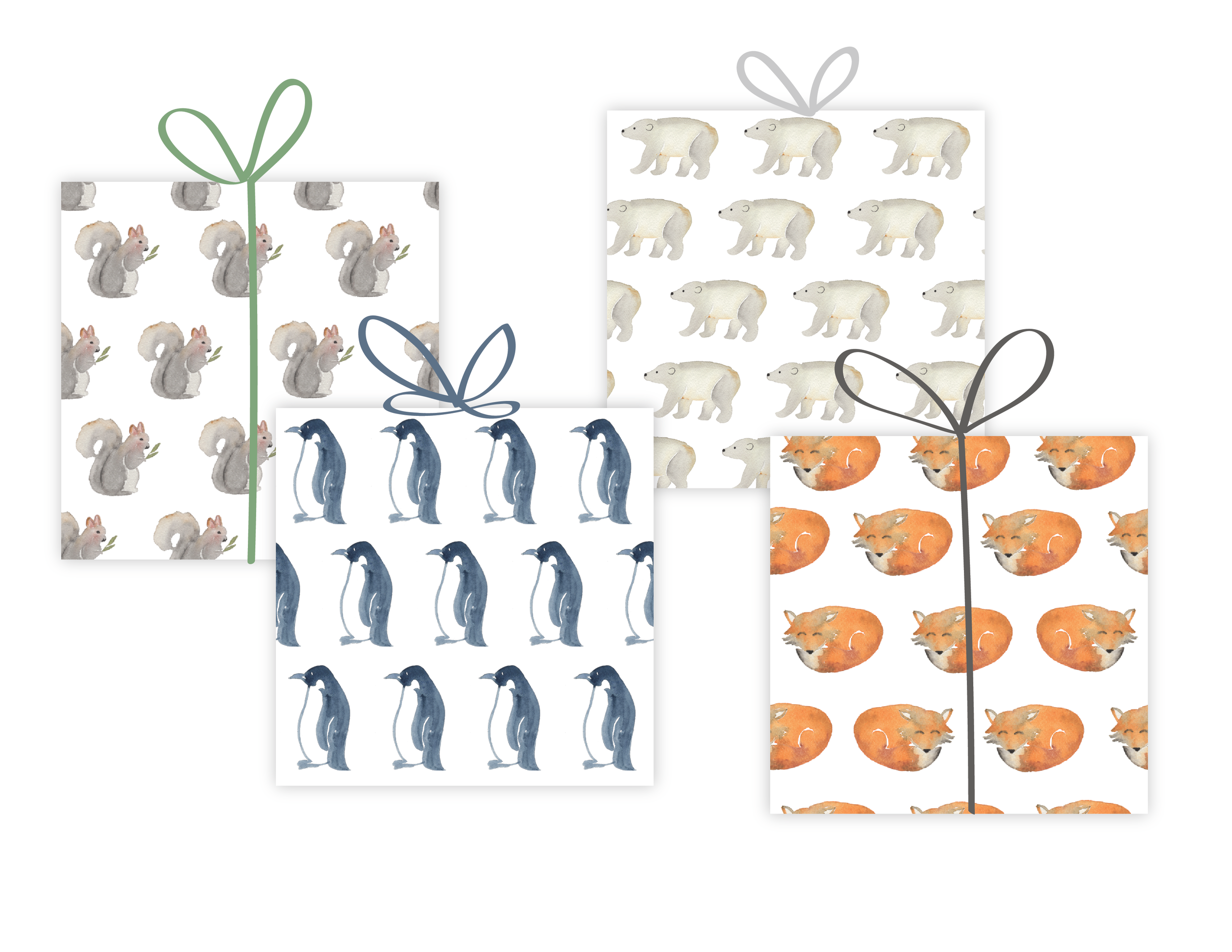 Watercolor Gift Wrap Patterns