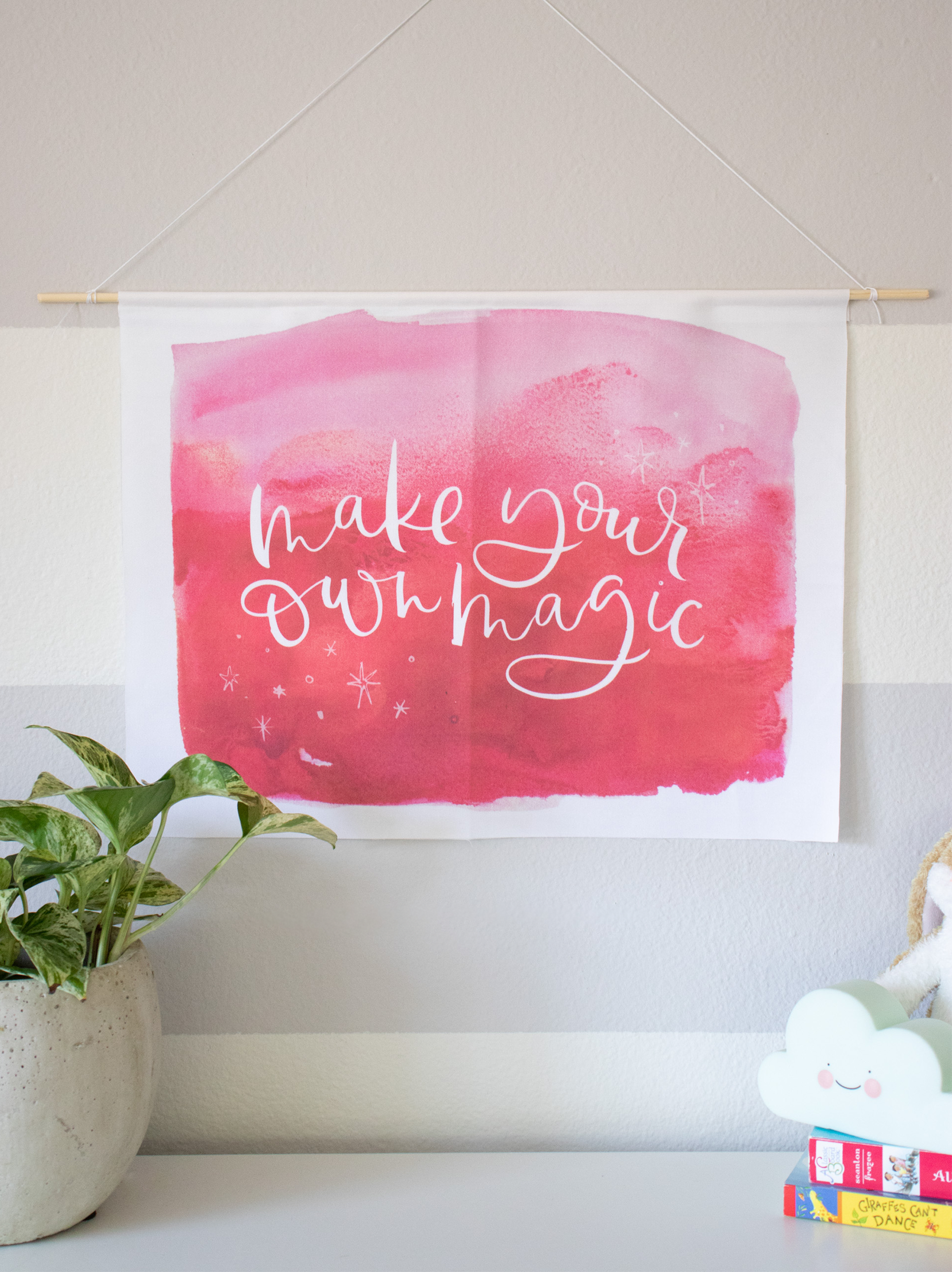 "Fabric Wall Hanging ""Make Your Own Magic"""