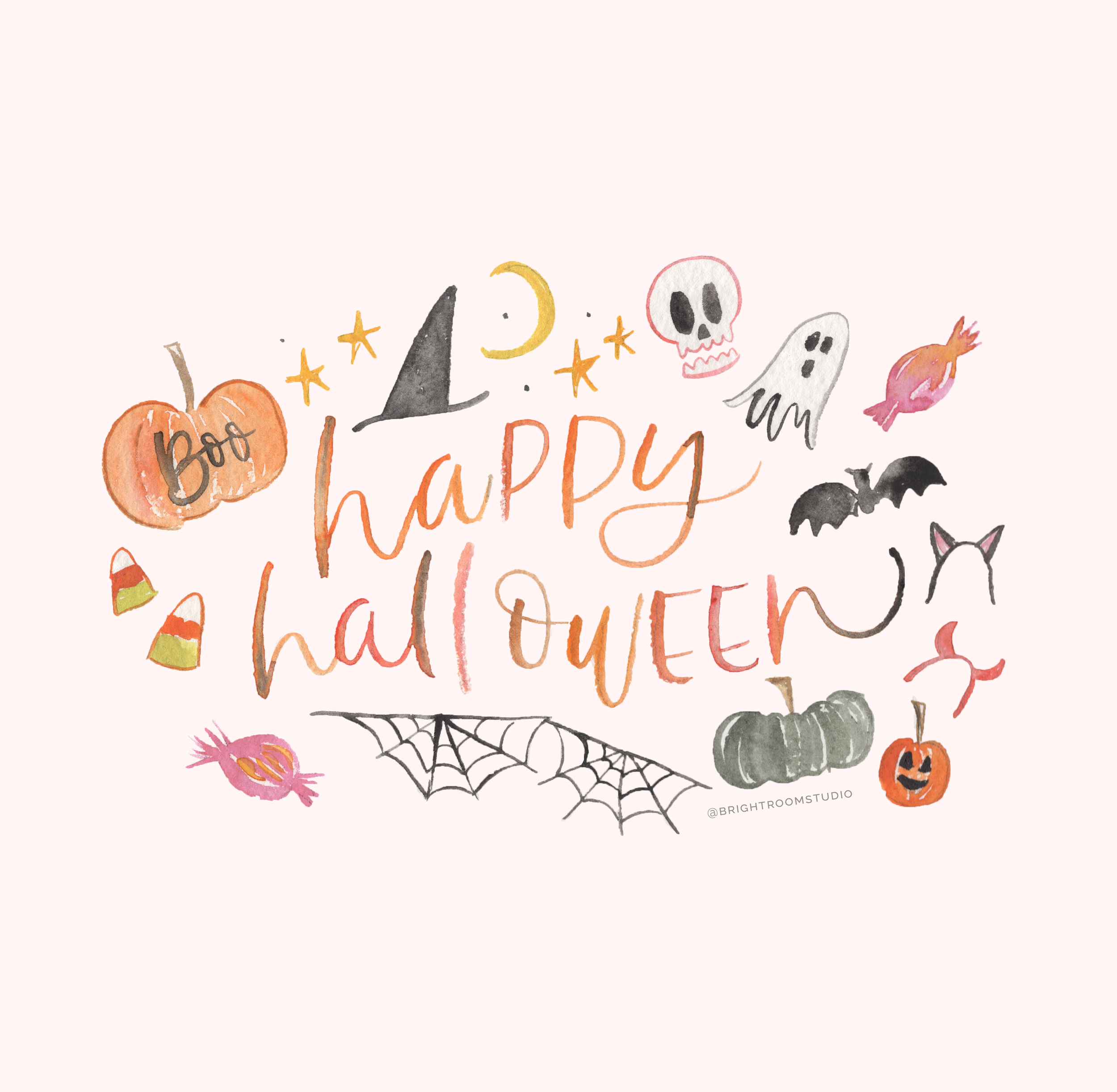 Halloween Watercolor Graphic