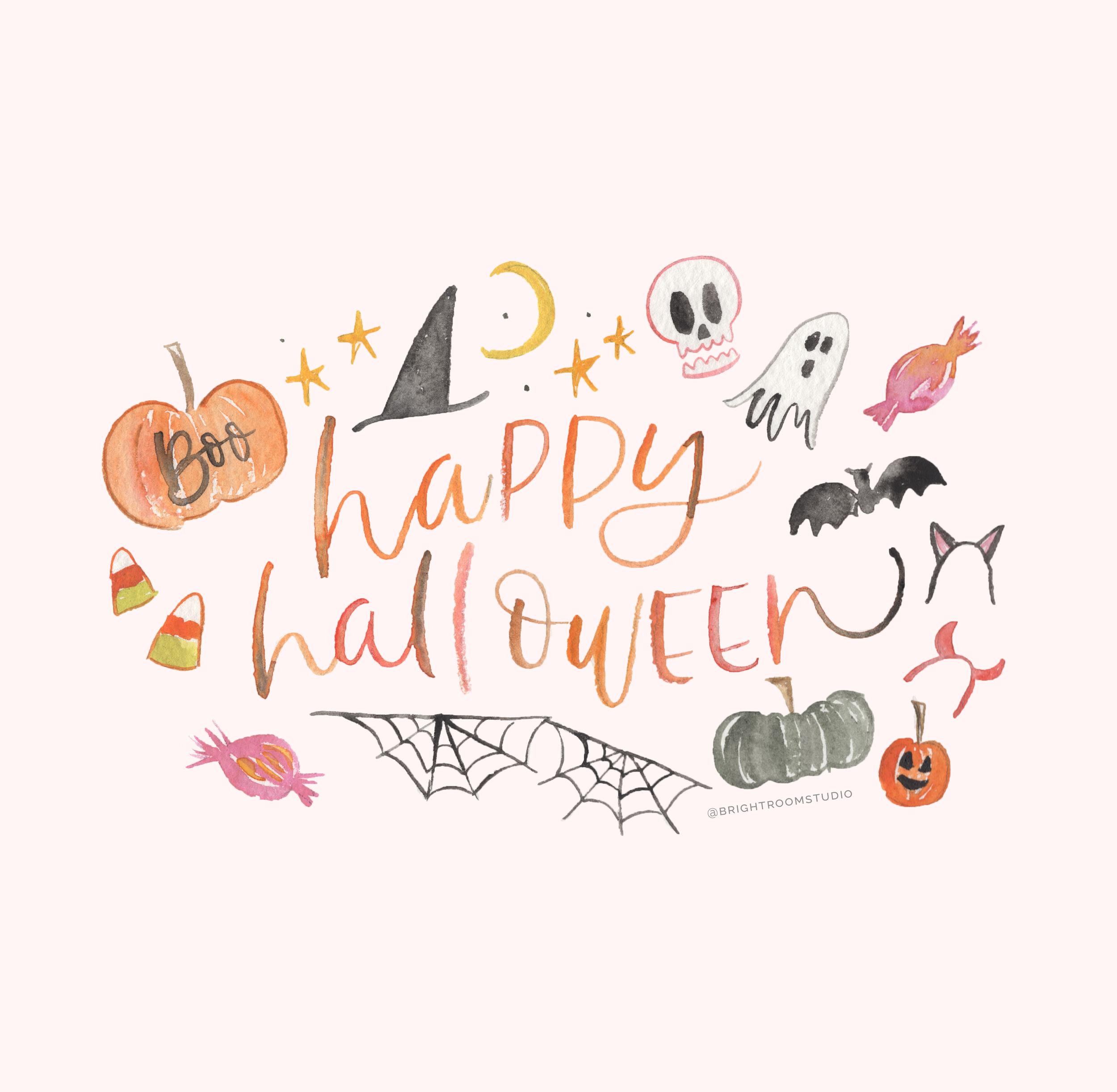 Halloween Watercolor Graphic