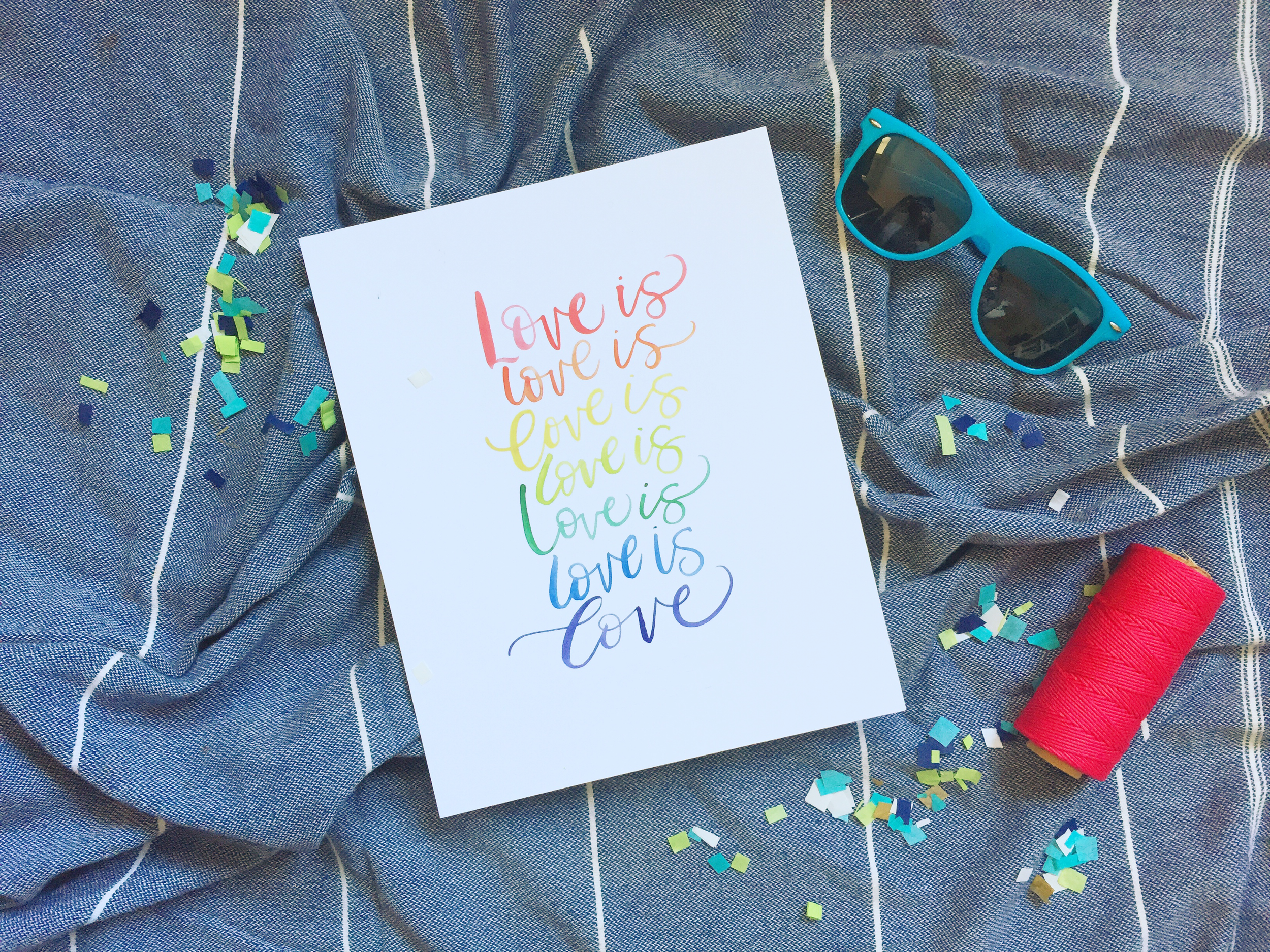 Love is Love Watercolor Print