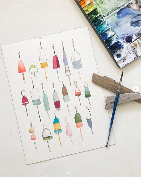 Watercolor Buoys