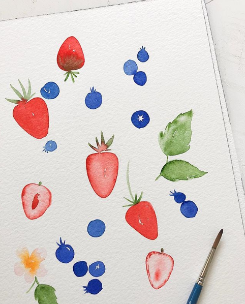 Watercolor Fruit Image