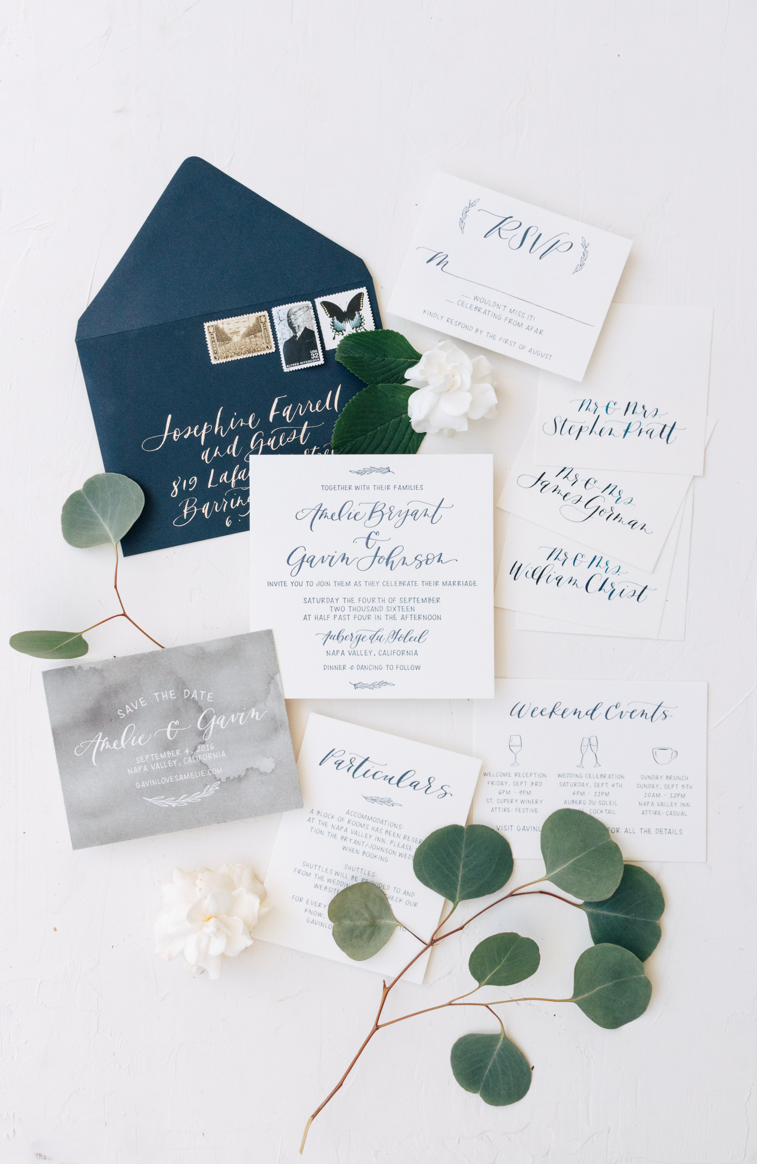 Classic Navy Invitation Suite from Bright Room Studio