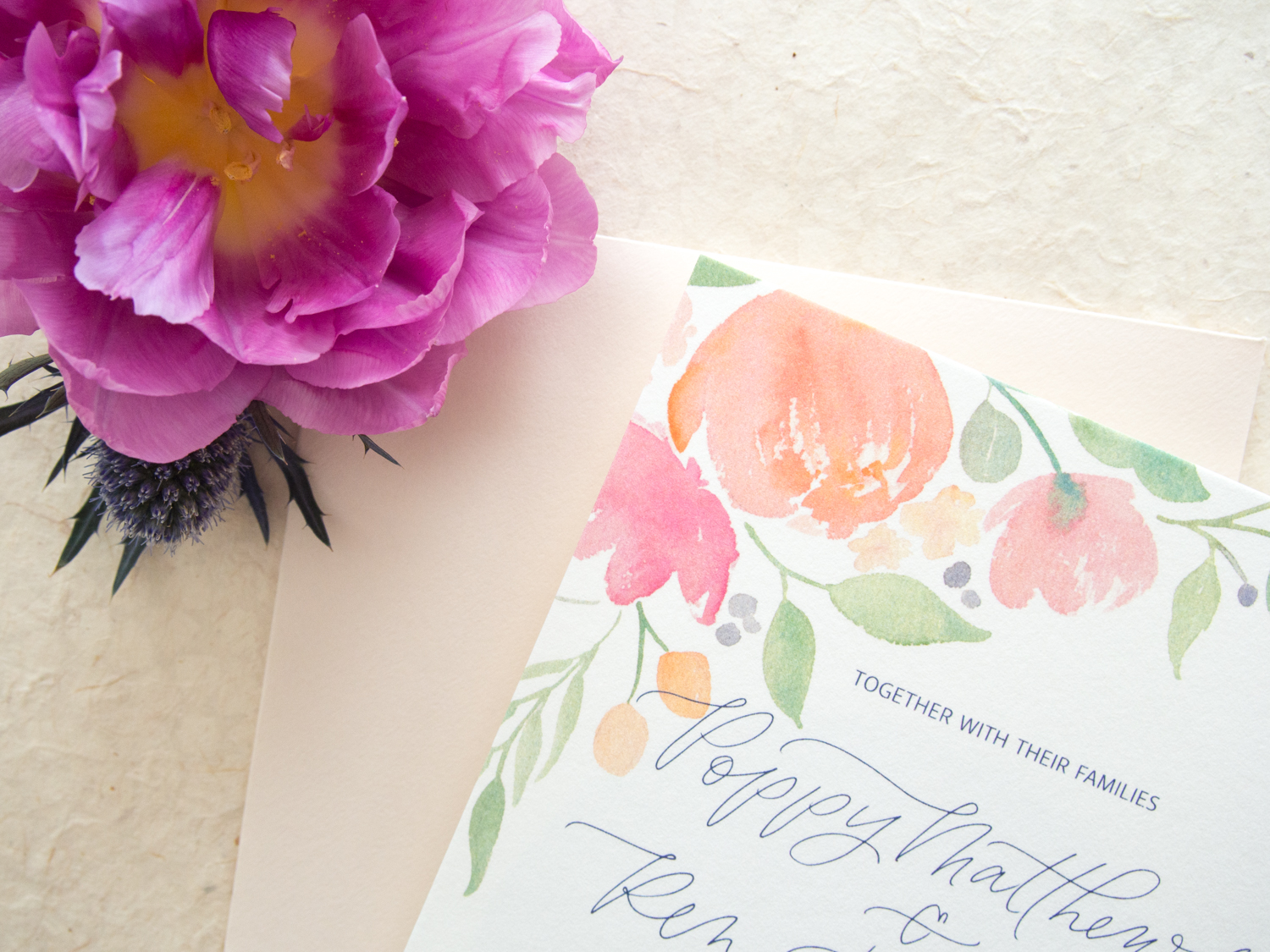 Romantic Watercolor Save the Date from Bright Room Studio