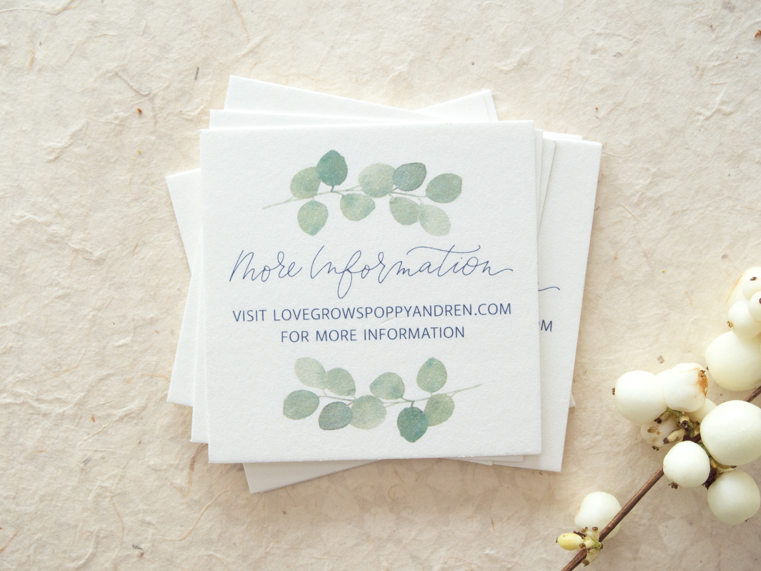 Watercolor Greenery Details Card from Bright Room Studio