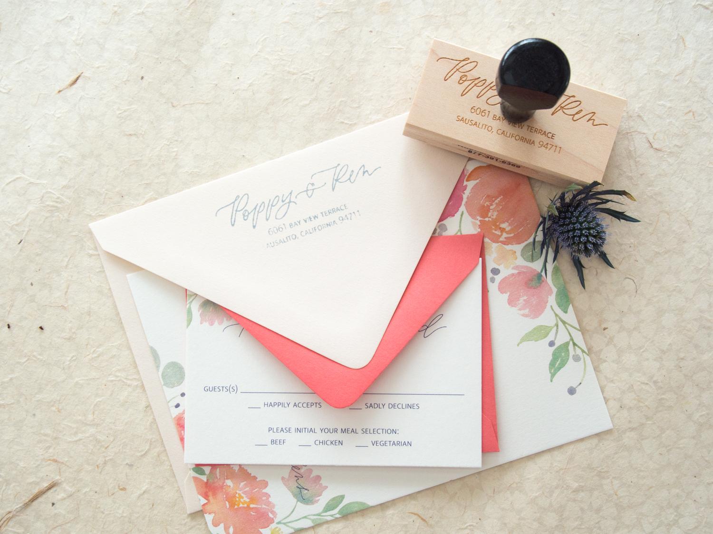 Return Address Stamp from Bright Room Studio