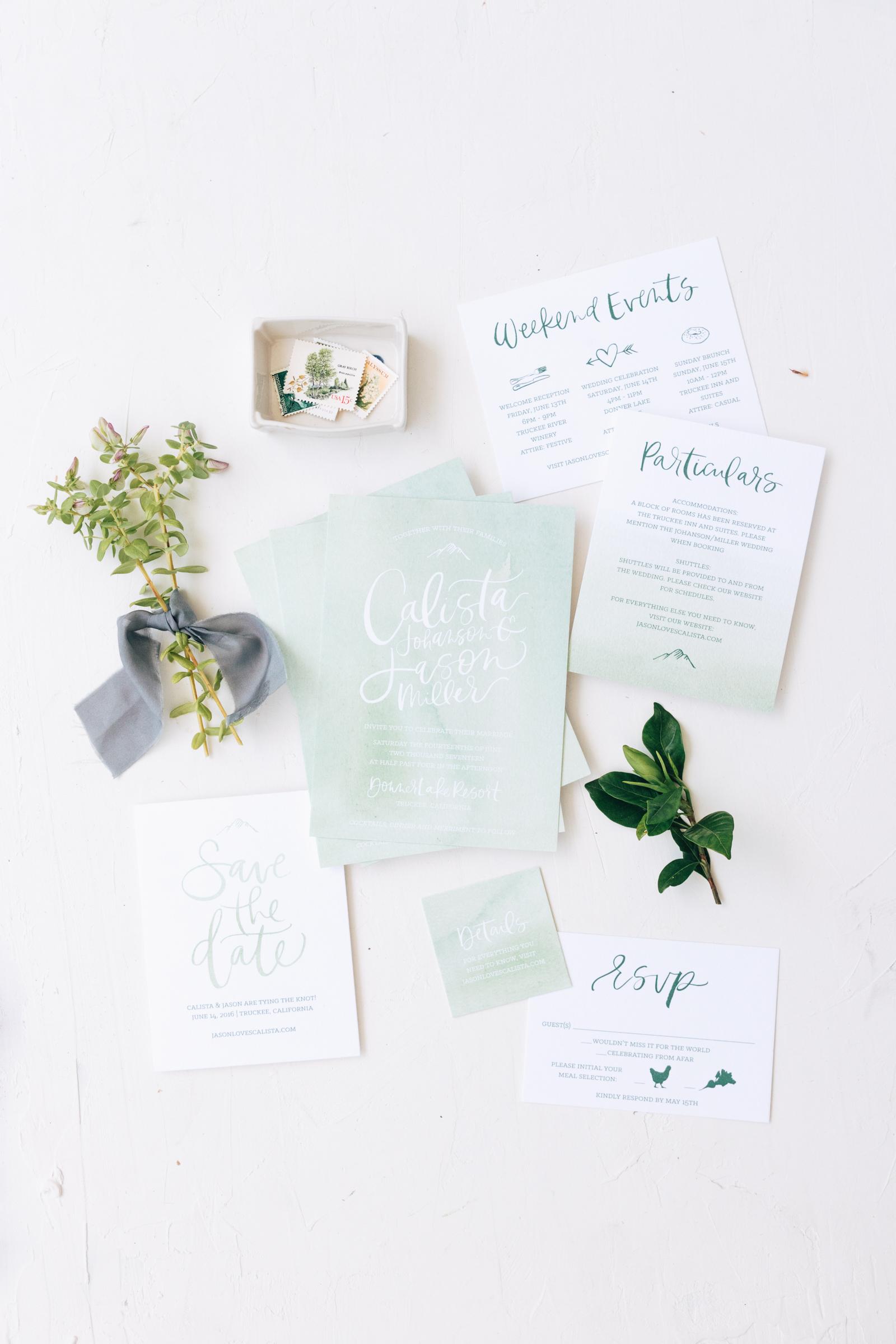 Unique and Customizable Watercolor Wedding Invitation