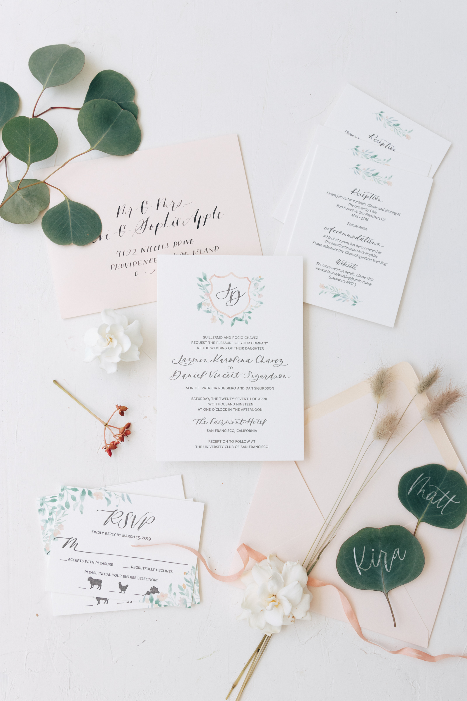 Classic Wedding Crest Invitation Suite from Bright Room Studio