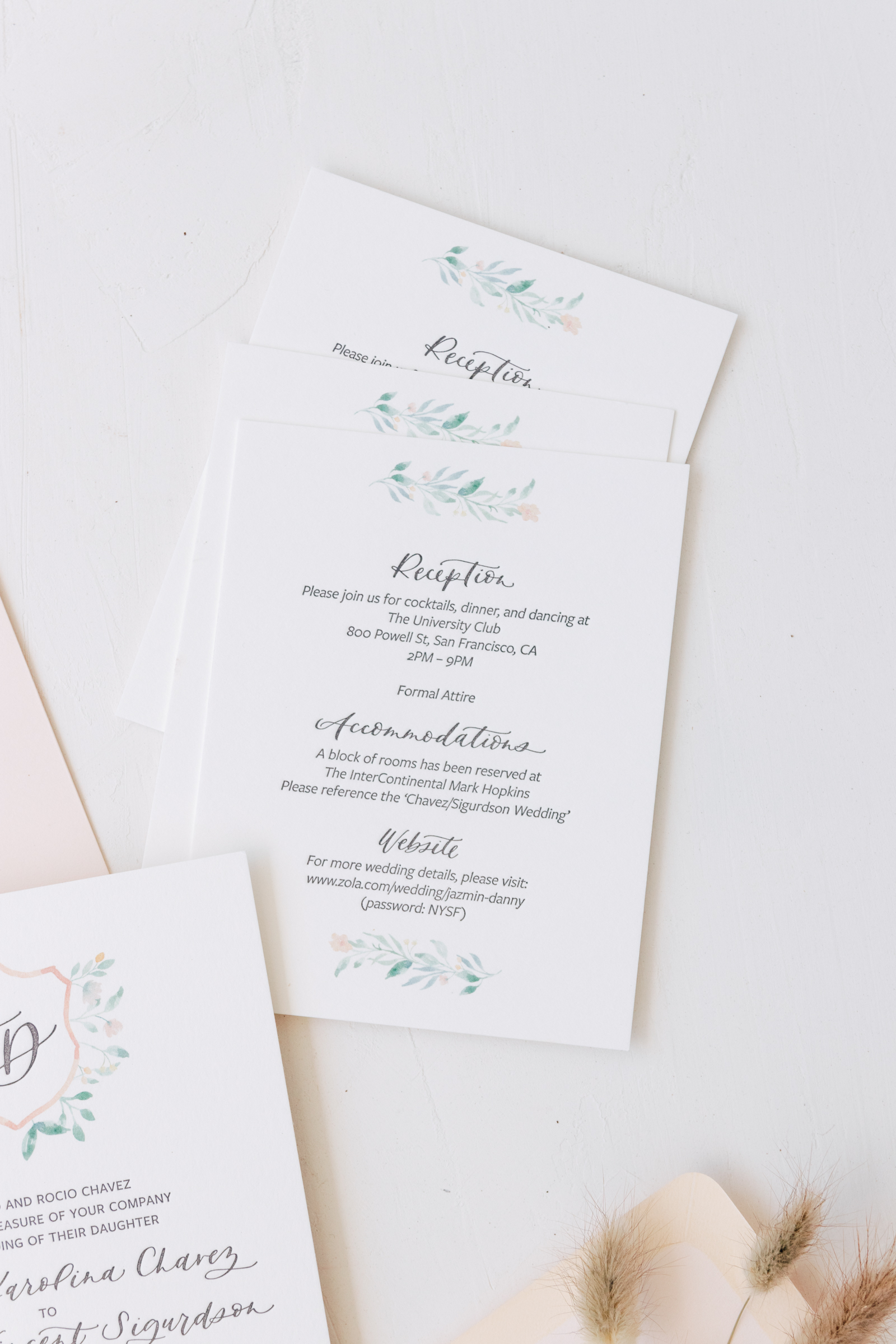 Classic Wedding Invitation Details Card