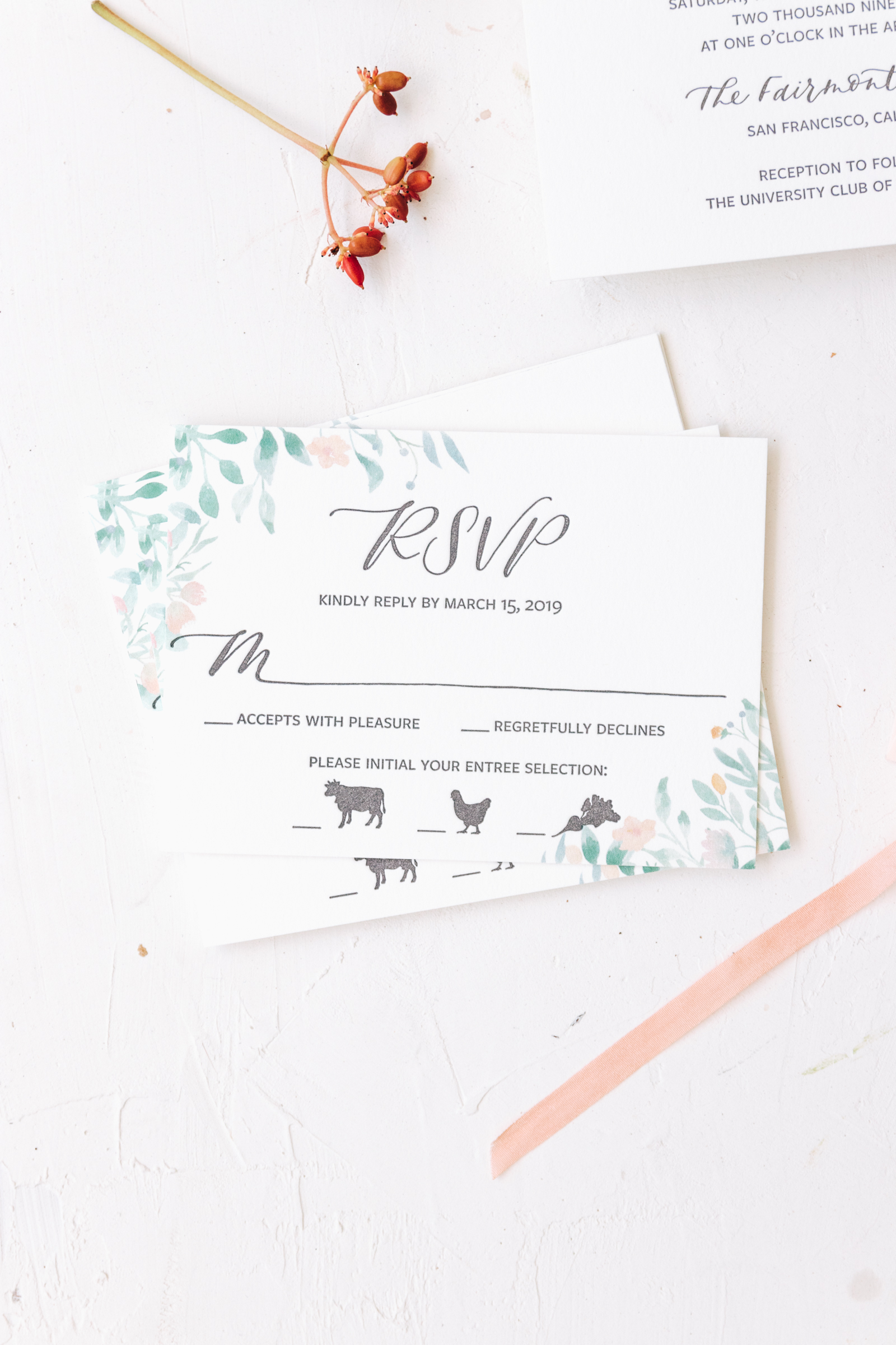 Classic Wedding Invitation Reply Card RSVP