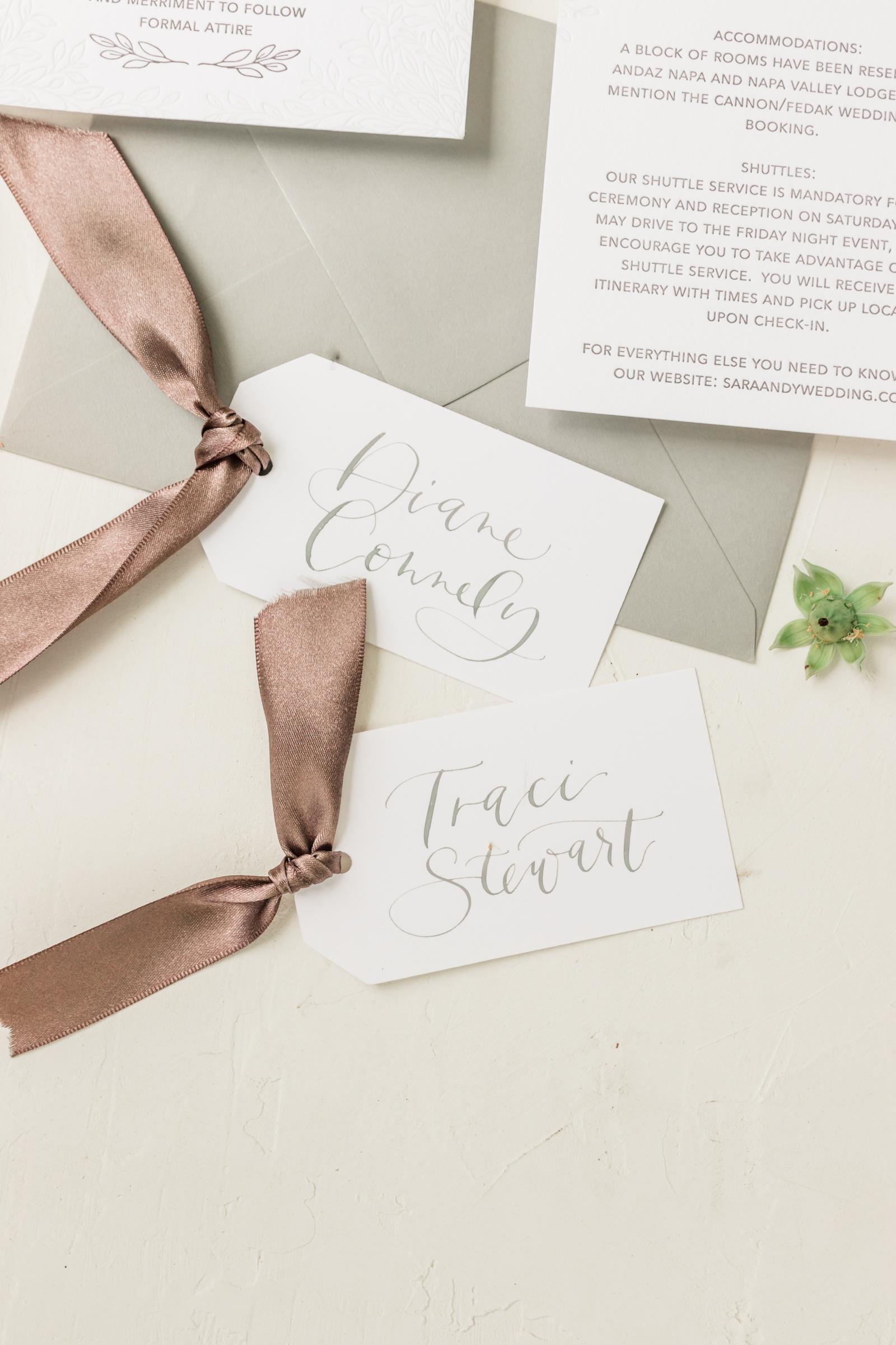 Simple Grey Escort Cards