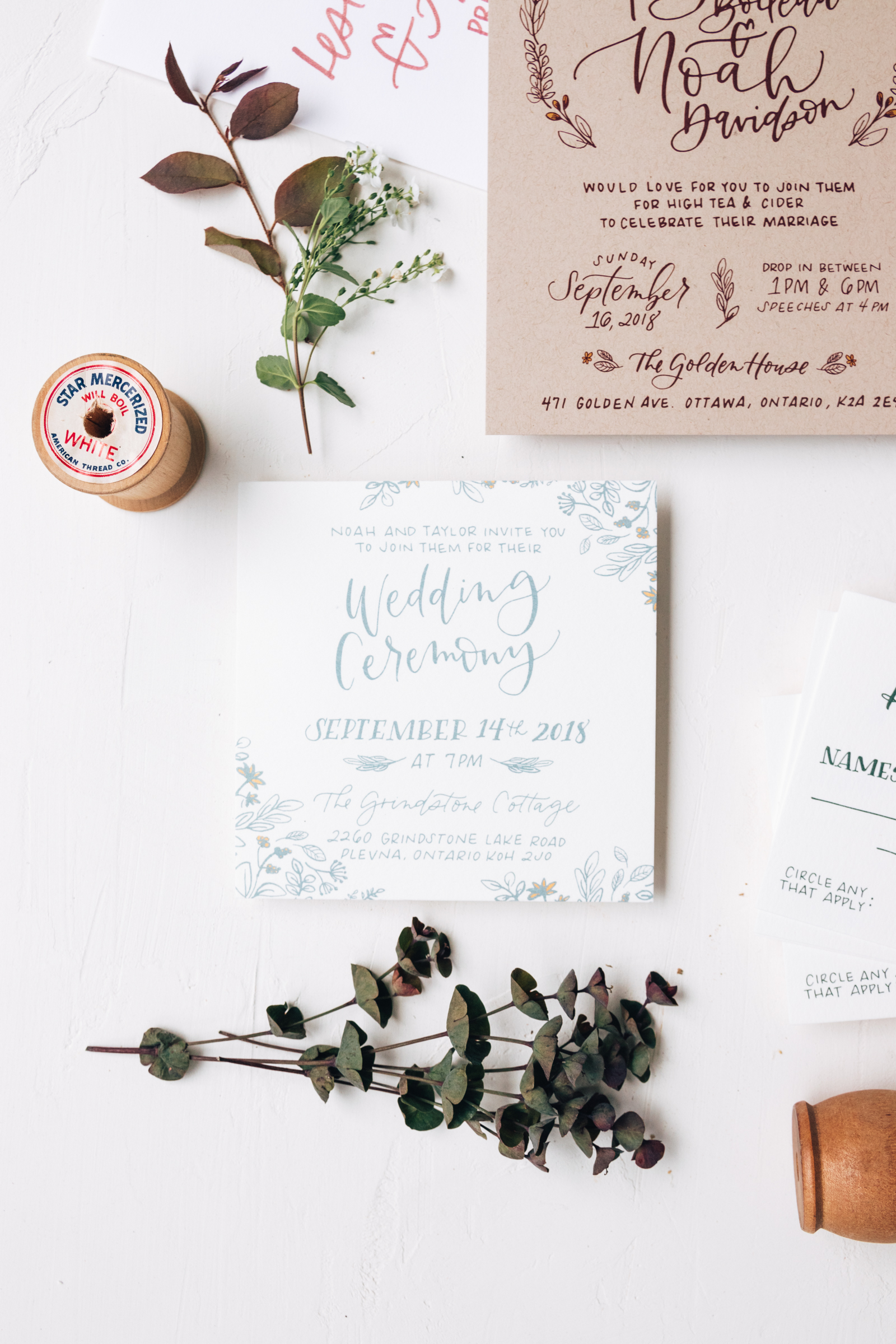 Whimsical Ceremony Wedding Invitation