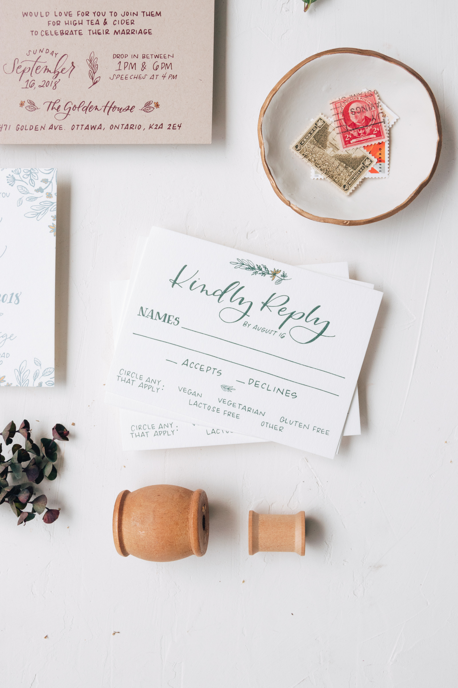 Rustic Wedding Reply Card