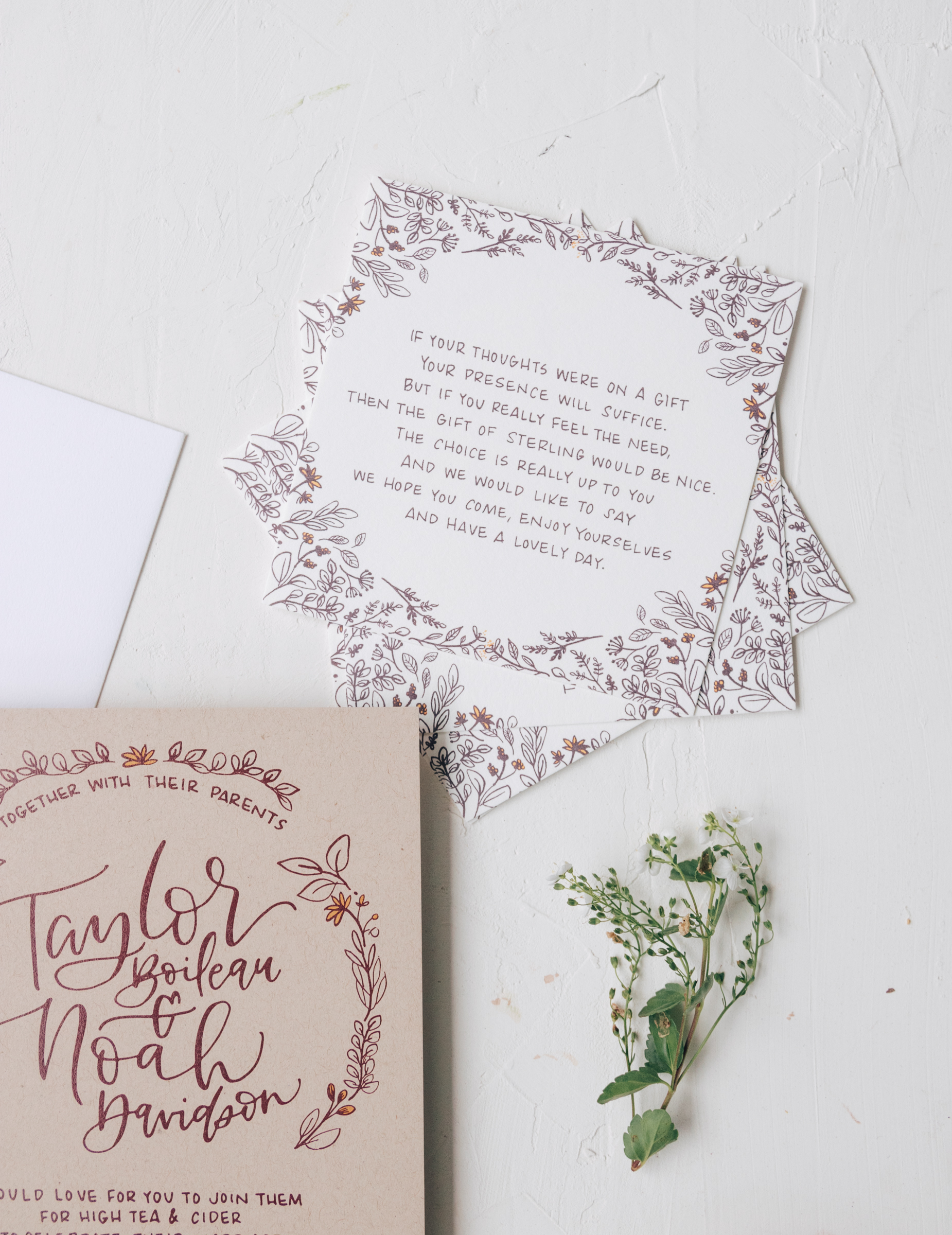 Whimsical Wedding Invitation Details