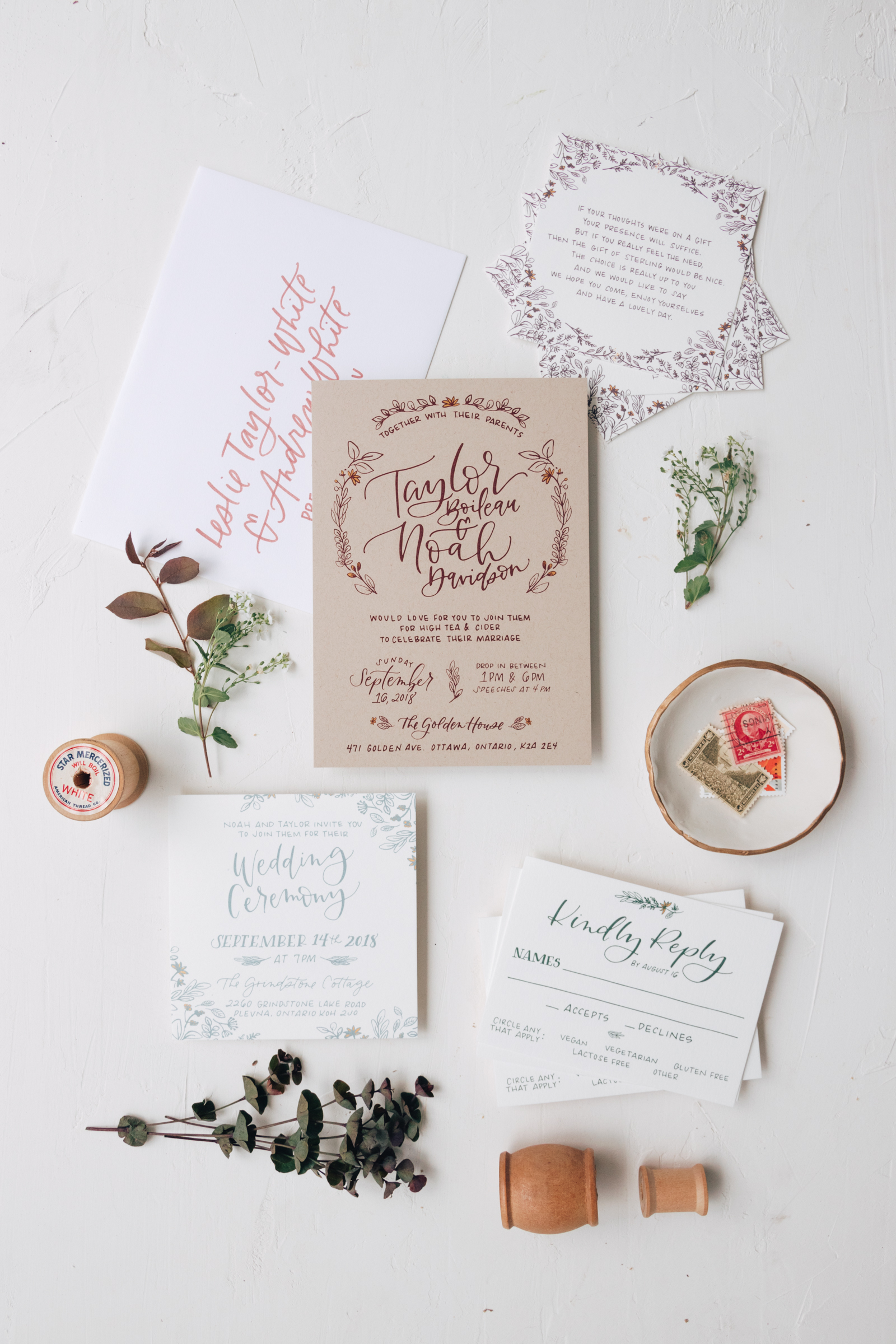Rustic and Unique Wedding Invitation