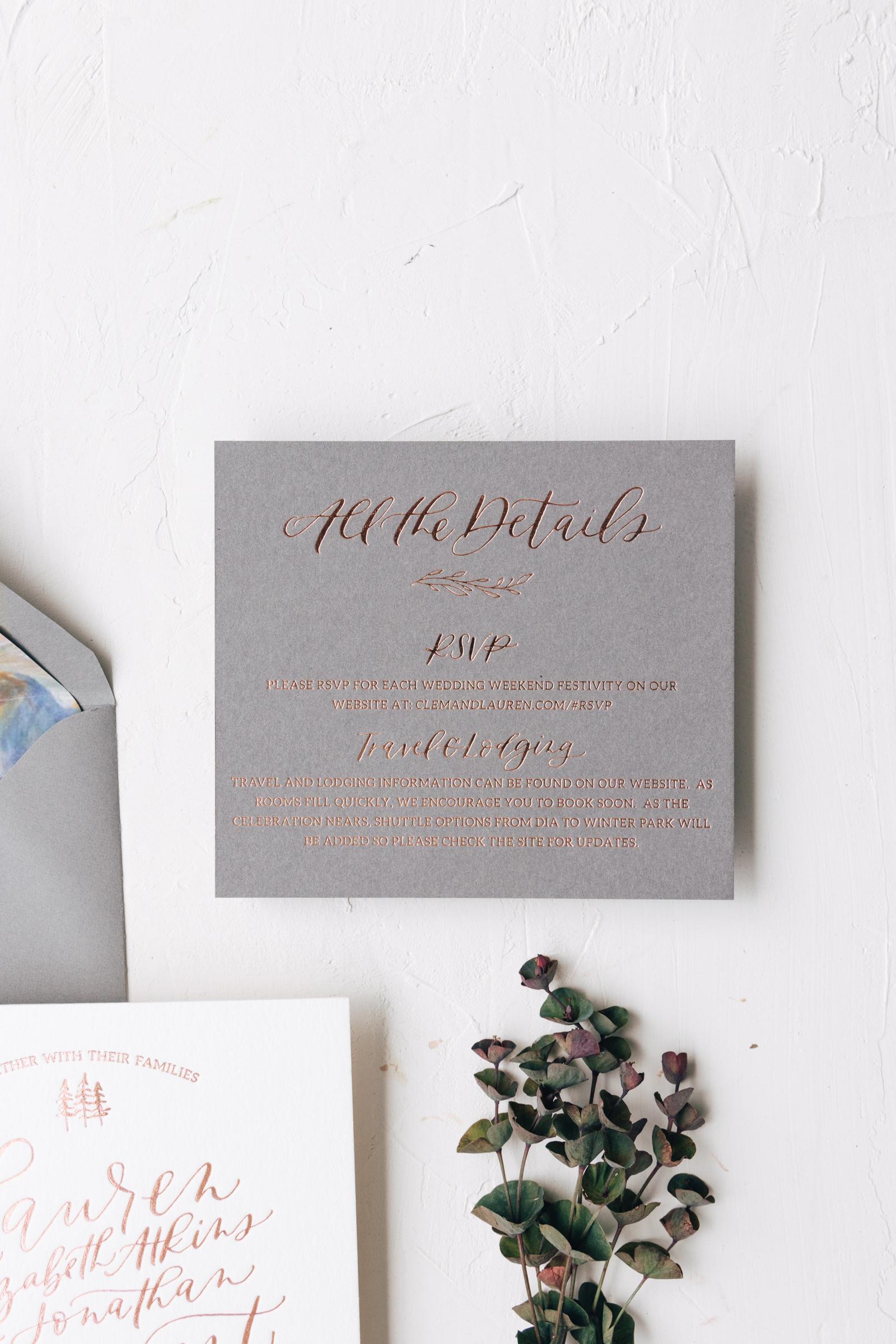 Modern Copper Foil Details Card