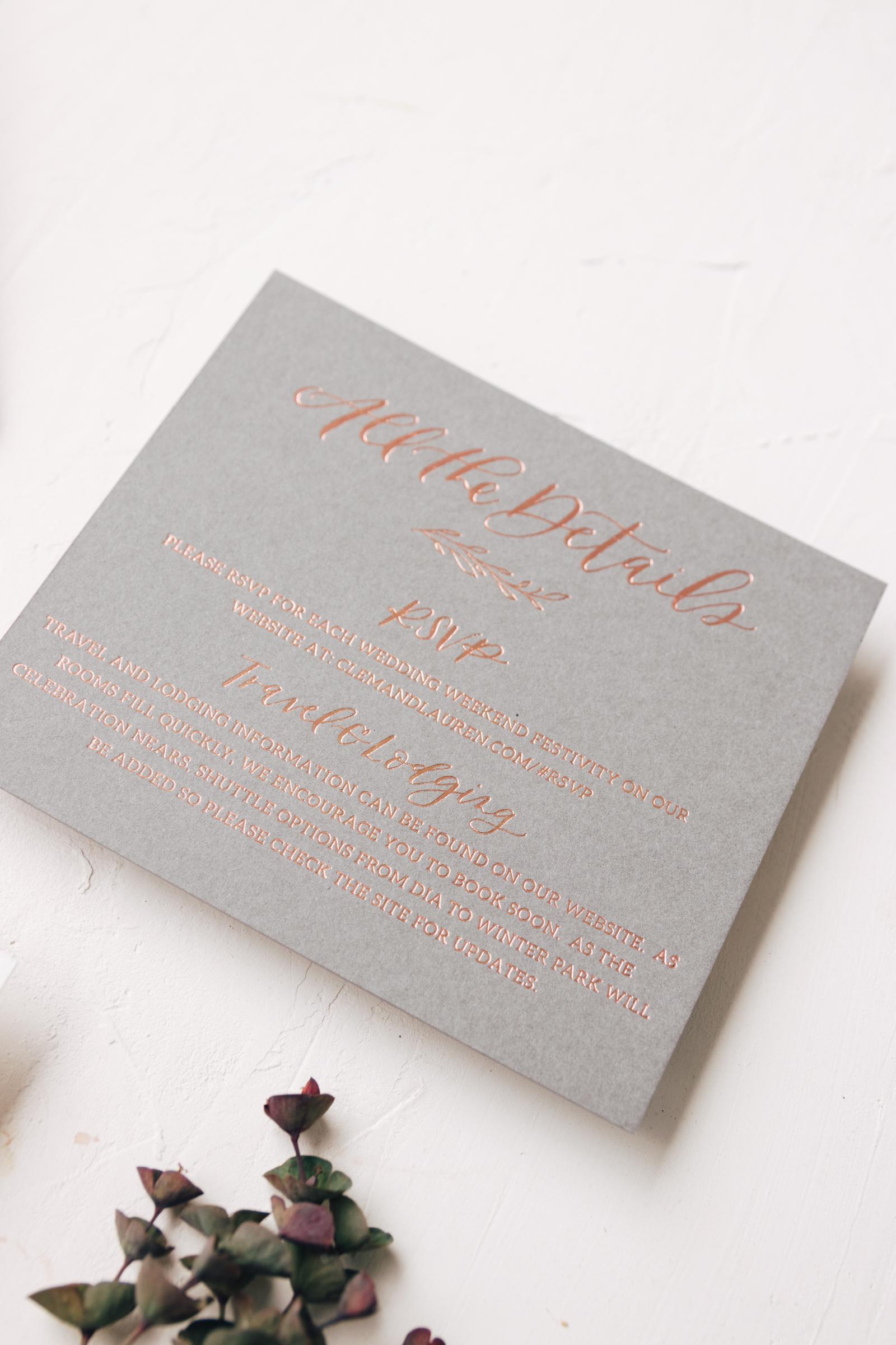Copper Foil Details Card