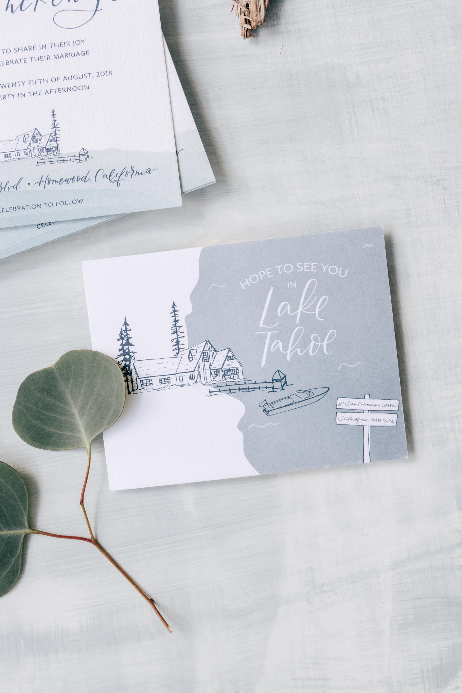 Lake Tahoe Wedding Save the Date
