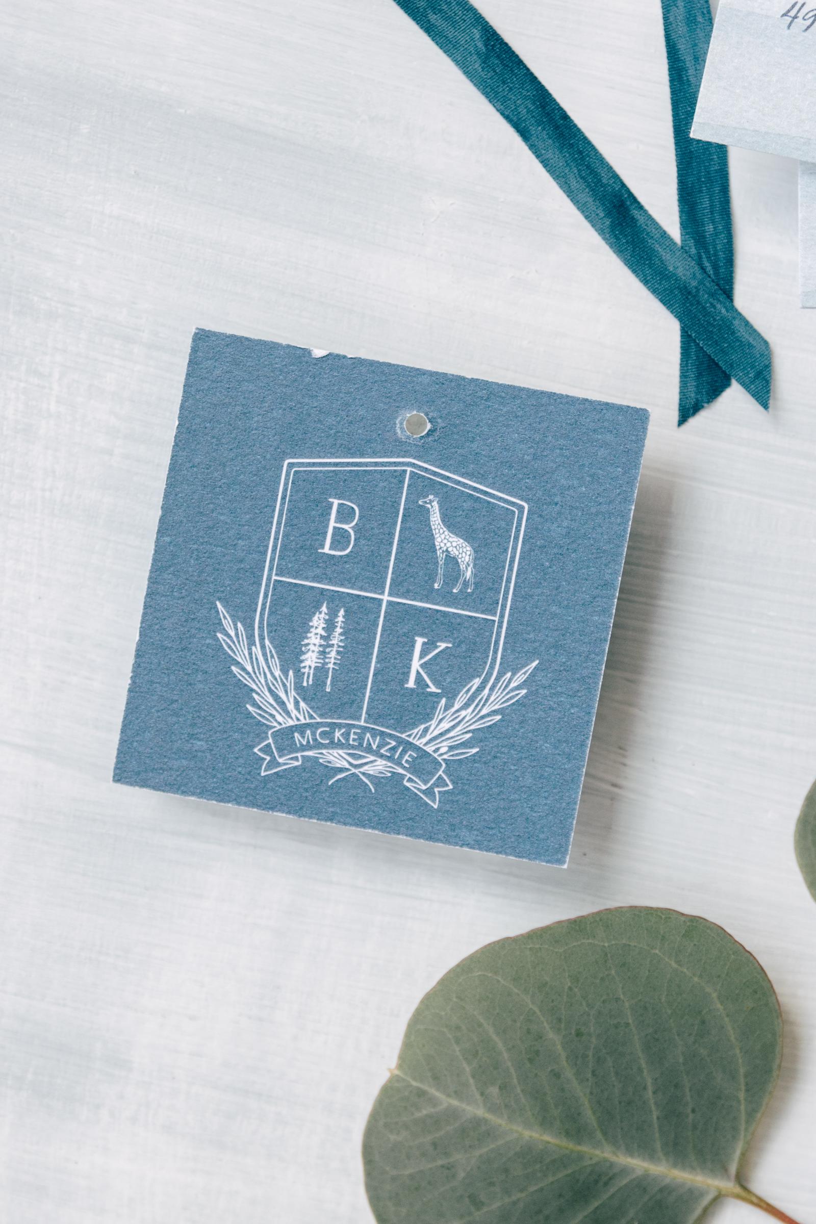 Unique Wedding Crest Coat of Arms