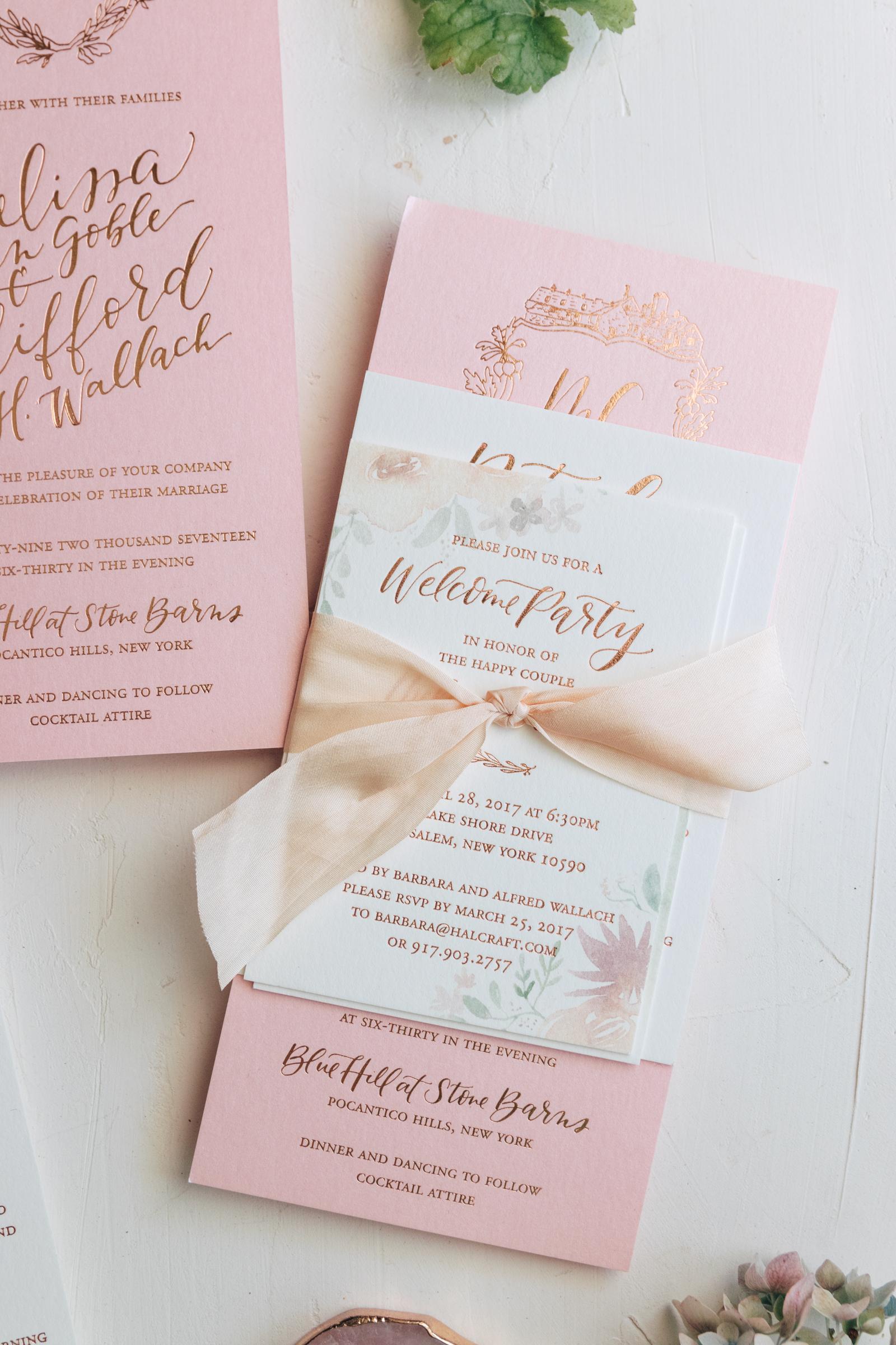 Romantic Pink Spring Invitation Suite