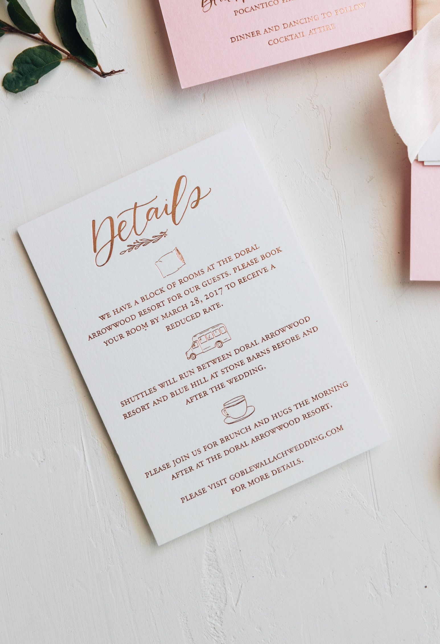 Details card ideas from Bright Room Studio