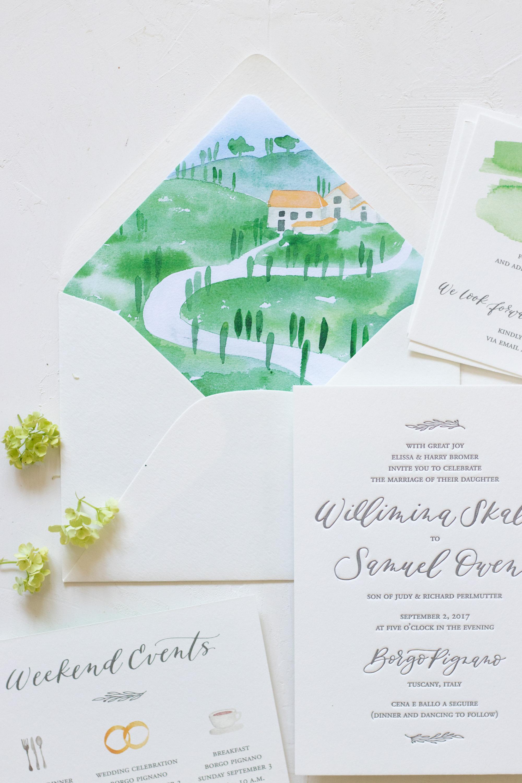 Custom envelope liner ideas