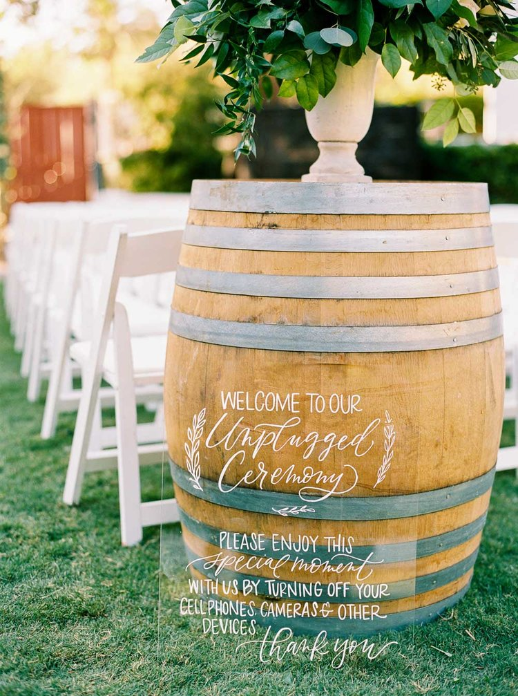Unplugged ceremony sign for Livermore wedding.jpg