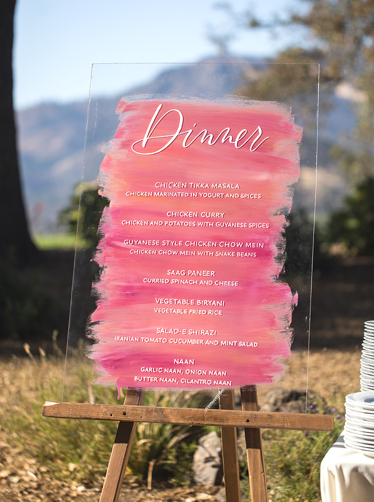 Vibrant Acrylic Dinner menu sign by Bright Room Studio.jpg